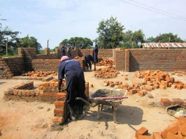 Construction of Hospital Walls, Brick by Brick